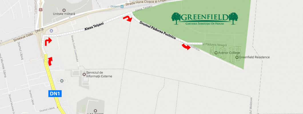 Cum ajungi în Greenfield